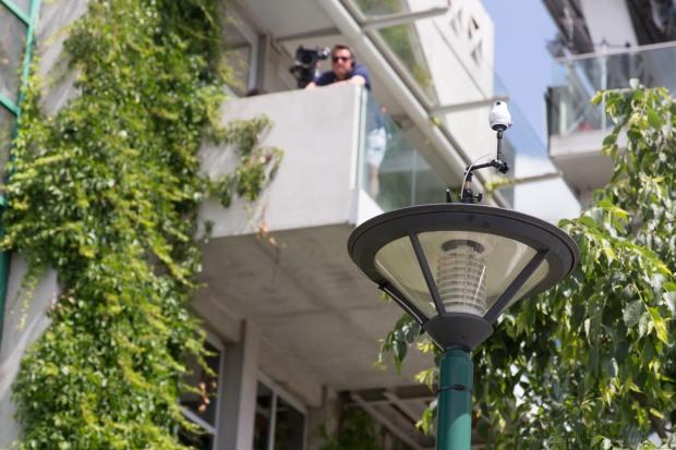 La caméra de Giroptic dans les allées de Roland Garros (source : Olivier Ezratty)